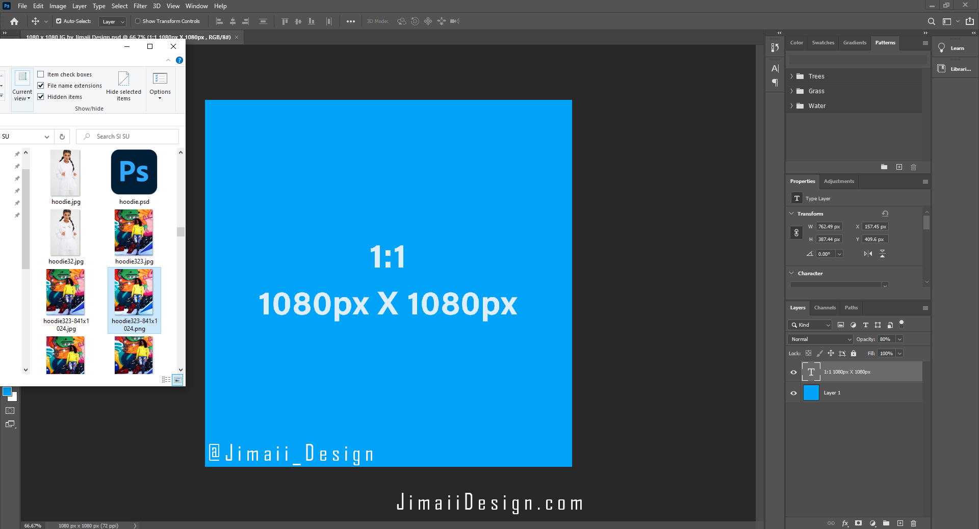 Free Instagram photo template by Jimaii Design