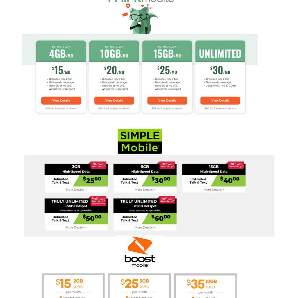 #1 Mint Mobile Plan Comparison - by Jimaii Design